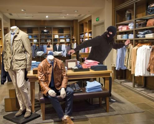 kledingwinkel dief