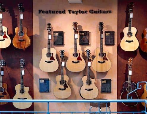 Guitarguitar winkel artikelbeveiliging acurity